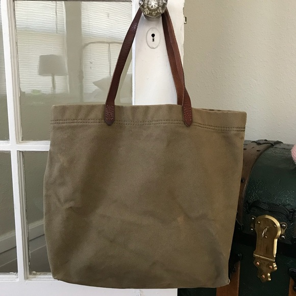 Madewell Handbags - madewell • canvas transport tote 2fc3bc12d72b6